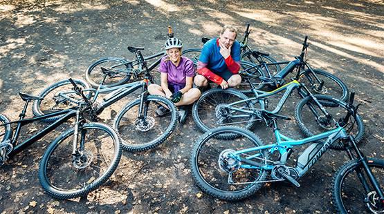 Verschiedene-Mountainbikes
