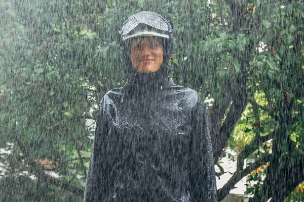 Regenbekleidung-Fahrrad
