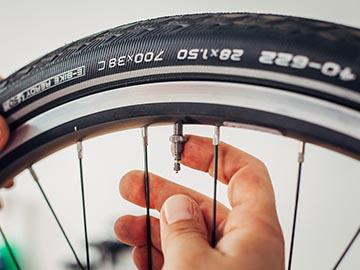 Fahrradmantel losen