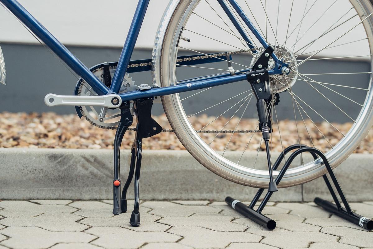 Fahrradständer Doppelständer Heckständer Zweibeinständer Seitenständer Trecking